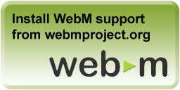 Install WebM support from webmproject.org